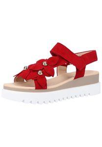 Gabor Damen klassische Sandale Rot Schuhe, Größe:39 1/3