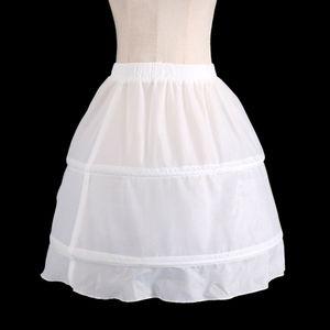 Mädchen 2 Hoop Petticoat Reifrock Unterrock für Tanz, Blumenmädchen Kleid, Kommunion Kleid, Halloween Kostüm