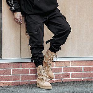 Herren New Style Mode Pure Color Overalls Freizeit Large Yard Hosen Hose Größe:XL,Farbe:Schwarz