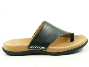 Gabor 03-700 Schuhe Damen Pantoletten Zehentrenner, Schuhgröße:39, Farbe:Schwarz