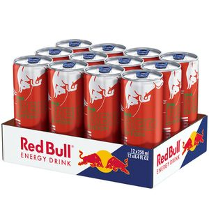 RED BULL Energy Drink RED EDITION Wassermelone 12er Tray (12 x 250 ml) € 3.00 Einweg-Pfand im Preis enthalten