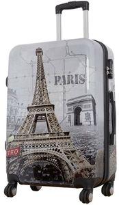 Koffer XL Groß Paris Eifelturm 77cm Hartschale 4 Rollen Reise Trolley Bowatex