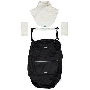 "Hoppediz® Fleece-Cover ""3 in 1"" - wärmendes Tragecover mit Regenschutz Farbe: sand"