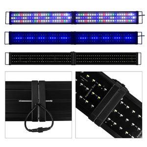120-140CM LED Aquarium Beleuchtung Lampe, Klappbar , Aufsatzleuchte Licht Lampe Pflanzen Vollspektrum Aquarien Plant Fisch RGB Bunt