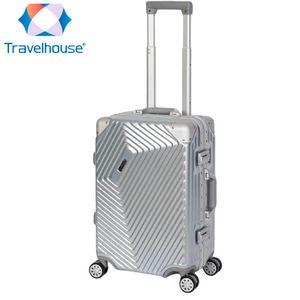 Travelhouse Roma - Handgepäck - Silber, Polycarbonat Hartschale, Alu-Rahmen