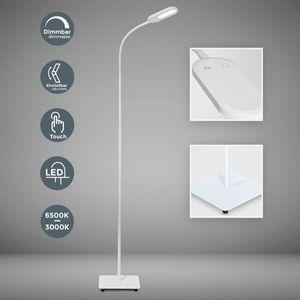 LED Stehlampe dimmbar flexibel inkl. 8W 600 Lumen LED Platine IP20 Stehleuchte 3000 Kelvin warmweiß weiß B.K.Licht