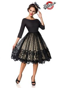 Premium Spitzen-Swingkleid von Belsira : schwarz 3XL
