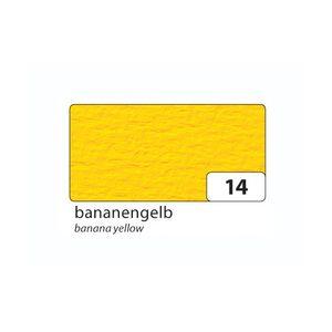 folia 100314 Passepartoutkarten mit ovaler Ausstanzung, mit Kuverts, bananengelb, 6-teilig (1 Set)