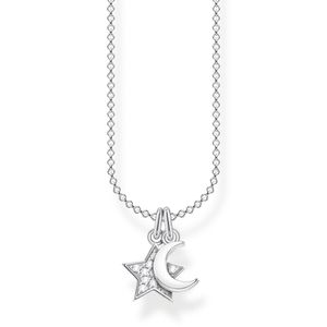 Thomas Sabo KE2068-051-14 Halskette mit Anhänger Stern & Mond