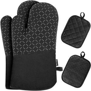 Ofenhandschuhe Hitzebeständige 300°C Topfhandschuhe Topflappen Handschuhe Backhandschuhe Kochhandschuhe