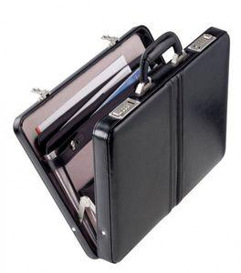 Dermata Aktenkoffer Leder schwarz - Modell: 1242