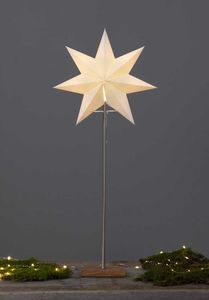 Star Trading Stehlampe Standleuchte Stern Papierstern Weihnachtsstern 34x80cm