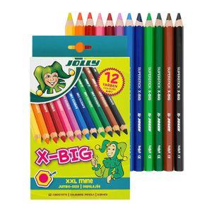 Jolly X-BIG Buntstifte, extra dick - 12er Pack