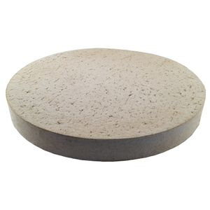 Pizzastein Brotbackstein aus Schamott rund Ø 260 mm lebensmittelecht für Backofen, Grill, Kugelgrill