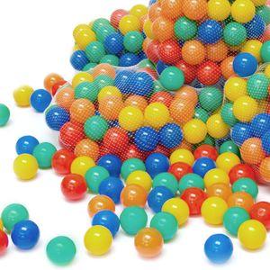 LittleTom 100 Bällebadbälle Ø 7cm Bälle-Set für Bällebad bunte Spielbälle Kinder-Bälle für Bällebad-Pool Plastikbälle Babybälle | 5 gemischte Farben Gelb Rot Blau Grün Orange | e Qualität