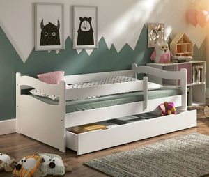 Kinderbett Jugendbett Kinderzimmer ABBY 160x80cm  + Schublade + Rollrost + Matratze