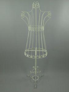 Schneiderpuppe, Schneiderbüste im Landhaus Stil, Eisen antik weiß, 155 cm