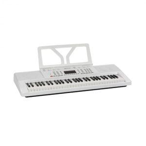 Schubert Etude 61 MK II Digital Keyboard - Tasten-Keyboard , 61 Tasten , Lern- und Aufnahmefunktion , 50 Demo-Songs , 300 Klänge/Rhythmen , Netz- und Batteriebetrieb , inkl. Notenständer , weiß