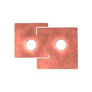 Kolarz Deckenleuchte Square Blattkupfer