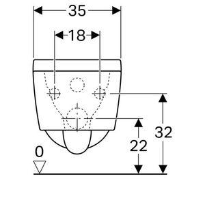 Keramag Tiefspül-WC Xeno2, spülrandlos, 4,5/6 l, Wandh. Keratect weiß, 207050600