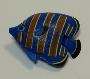 Wassersäulen Zubehör Fisch blau braune Streifen -#3324