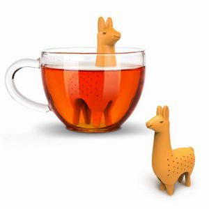 2 Stück  Silikon Teesieb Teefilter Alpaka-Teesieb für Tassen Kannen Infuser Orange 10.5cm*6.8cm*3cm