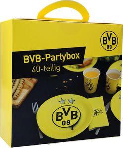 BVB  Partybox (40-teilig) Teller, Becher, Servietten Borussia Dortmund