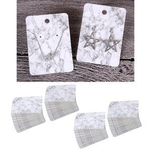 200 Stücke Ohrring Display Karte Ohrringständer Ohrringhalter Marmor Farbe 5 × 7cm