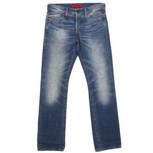 19812 Replay, Waitom Regular Slim,  Herren Jeans Hose, Denim, blue used, W 30 L 34
