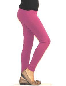 Kinder Mädchen Leggings lang blickdicht aus Baumwolle Hose   Helllila  134