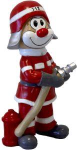 Die Schmitzens Clown Figur 'Feuerwehrmann' (20cm) Dekoration Karneval Kölle Köln