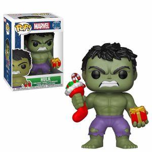 Funko Pop! 398 Marvel Avengers - Holiday Hulk w/ Stocking & Gift + Pop Protector