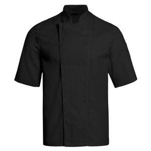 Größe XXL Greiff gastro moda Herren Cuisine Basic Kochjacke Halbarm Regular Fit Schwarz Modell 5562