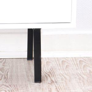 Möbelbein 150mm Höhe Eckig 25 x 25mm Ausführung Schwarz Couchfuss aus Metall