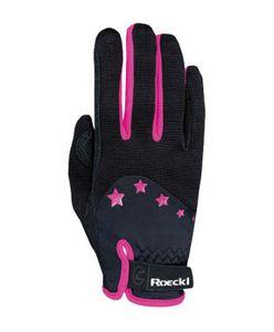 ROECKL Reit Handschuhe TORONTO mit Sternen schwarz/pink, 6,5