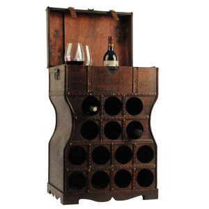 Weinregal mit Platz für 14 Flaschen im kolonialen Stil