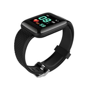 Dreißig 17 Sport Fitness Tracker Pulsmesser Armband Schwarz Farbe Schwarz