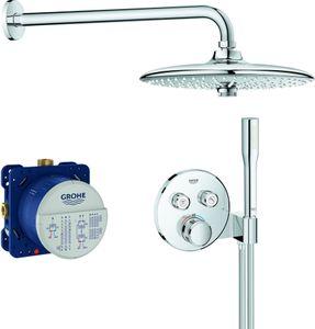 Grohe Duschsystem GROHTHERM SMARTCONTROL mit UP-Thermostatbatterie, Kopfbrause rund Ø 260 mm chrom