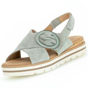 GABOR Comfort Damen Plateau-Sandalen Pastellgrün, Schuhgröße:EUR 38.5