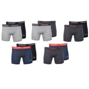 10er Pack Kappa Boxershorts Schwarz Mix Unterwäsche Unterhose Herren Boxer Short M-L-XL-XXL, Größe:XL