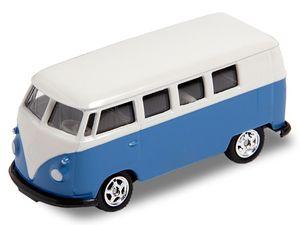 Alsino VW Bus Bulli Modellauto 7,5 cm Modell Volkswagen 1:60 Bully Minibus Oldtimer Welly, Variante wählen:56/0076 VW Bus T1 mini blau