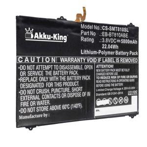 Akku kompatibel mit Samsung EB-BT810ABA, EB-BT810ABE - Li-Polymer 5800mAh - für Galaxy Tab S2 9.7 LTE-A, Galaxy Tab S2 Plus 9.7 LTE-A