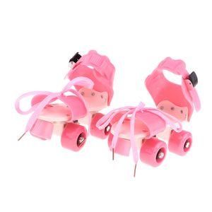 Kids Classic Quad Rollschuhe 4 Rollen Outdoor Indoor Balance halten Rosa 颜色: 粉色 Größe 4