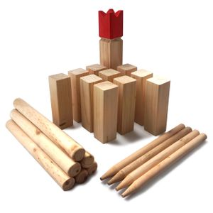 Ocean5 - Kubb - Original Wikinger Wurfspiel für draußen - Holz Schach Kegel Spiel aus Skandinavien - Das Geschicklichkeitsspiel für den Sommer