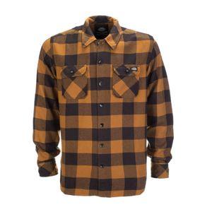 Dickies - Sacramento Karohemd Brown Duck Holzfeller Kariert Hemden Braun Herren Größe XS