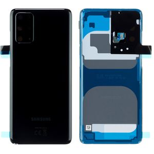 Original Samsung Galaxy S20 Plus G985F / S20 Plus 5G G986B Cosmic Black / Schwarz Akkudeckel Battery Cover Backcover Rückseite GH82-22032A / GH82-21634A