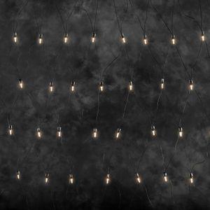 Konstsmide - LED Lichternetz, 160 warm weiße Dioden, 24V Außentrafo, grünes Kabel ; 4323-100