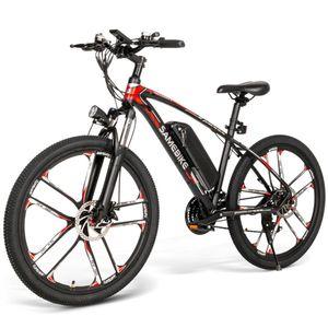 SAMEBIKE MY-SM26 26 Zoll Elektrofahrrad SHIMANO 21 Gang 48V 8AH 350W 30 km/h LCD-Display Schwarz E-Trekkingrad E-MTB Moped E-Bike Mountainbike