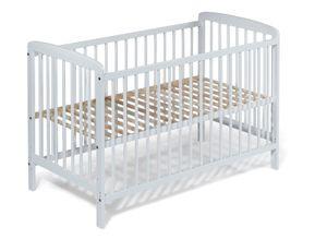 Babybett   Kinderbett JULIA 120x60 Weiss inkl. Matratze