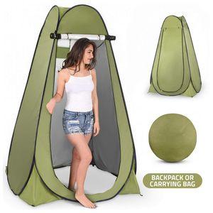 Pop-Up Duschzelt Toilettenzelt Umkleidezelt Camping Zelt Beistellzelt, 150X150X190CM
